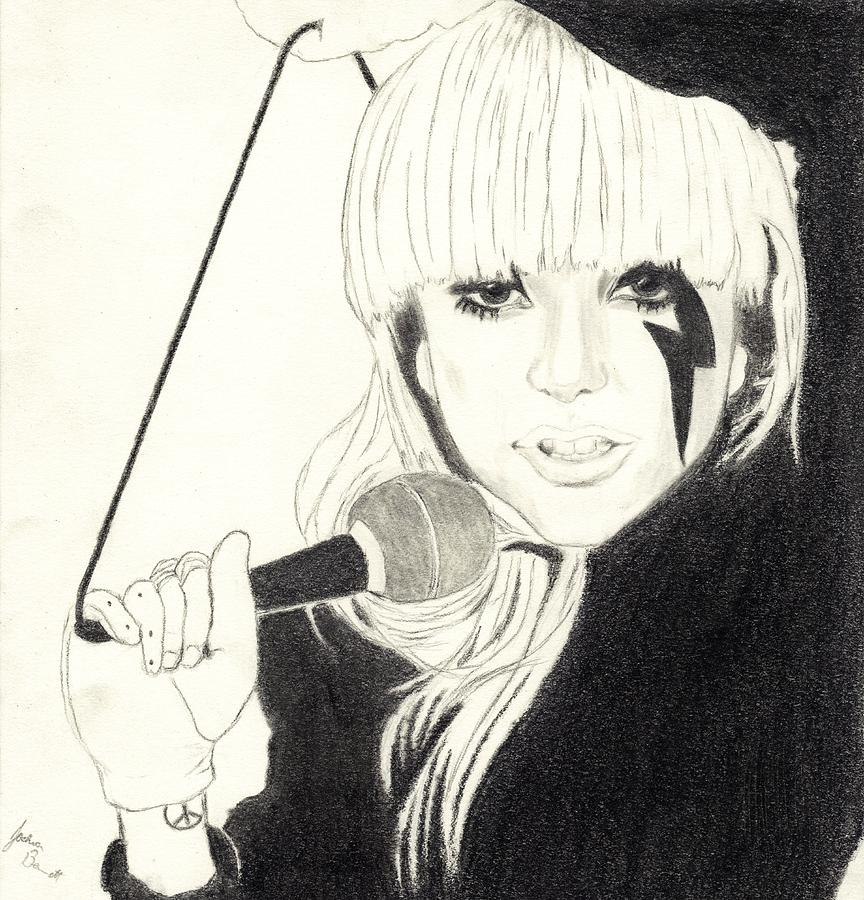 Lady Gaga Drawing - Lady Gaga by Josh Bennett