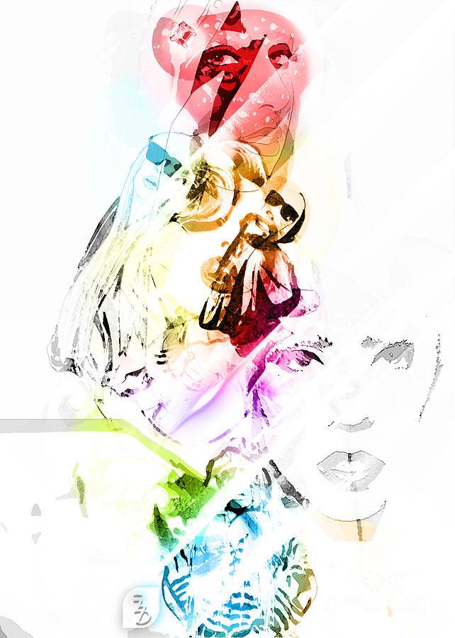 Lady Gaga Digital Art - Lady Gaga by The DigArtisT