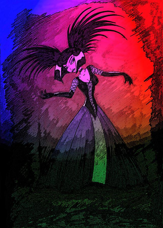 Sam Manson Digital Art - Lady Goth by Gary Eakin
