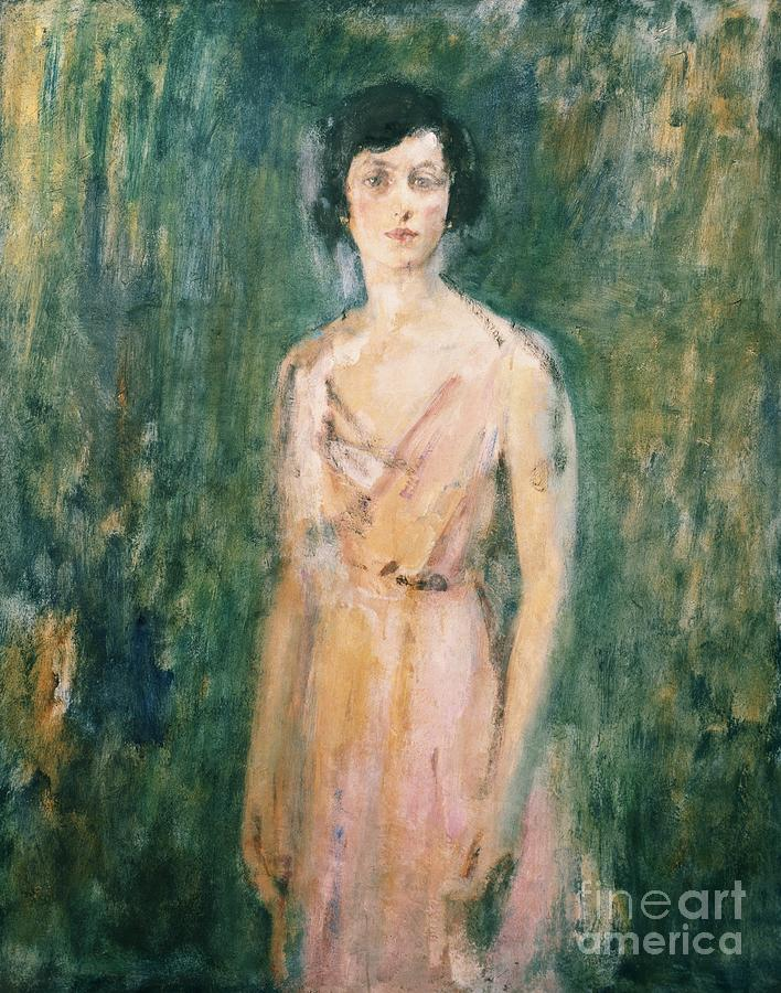 Lady Painting - Lady In A Pink Dress by Ambrose McEvoy