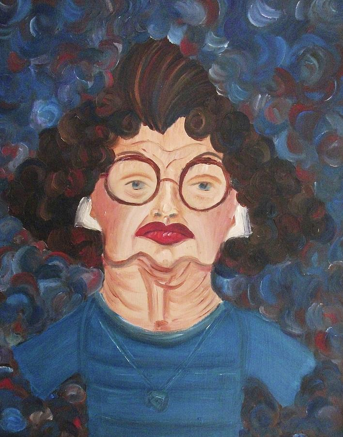 Lady Painting - Lady In Blue by Suzanne  Marie Leclair