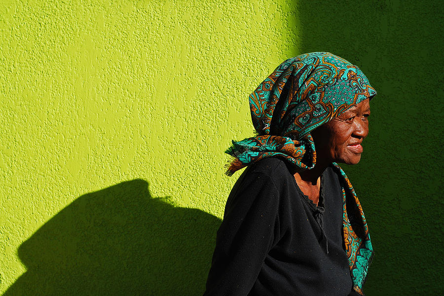 Africa Photograph - Lady In Green by Skip Hunt