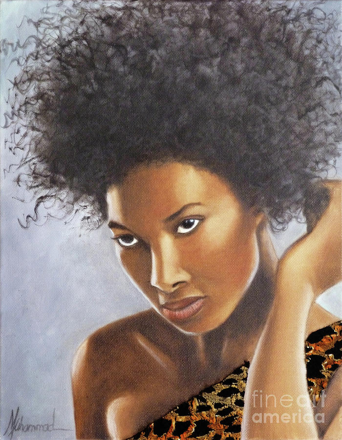 Lady Painting - Lady in Leopard by Marcella Muhammad