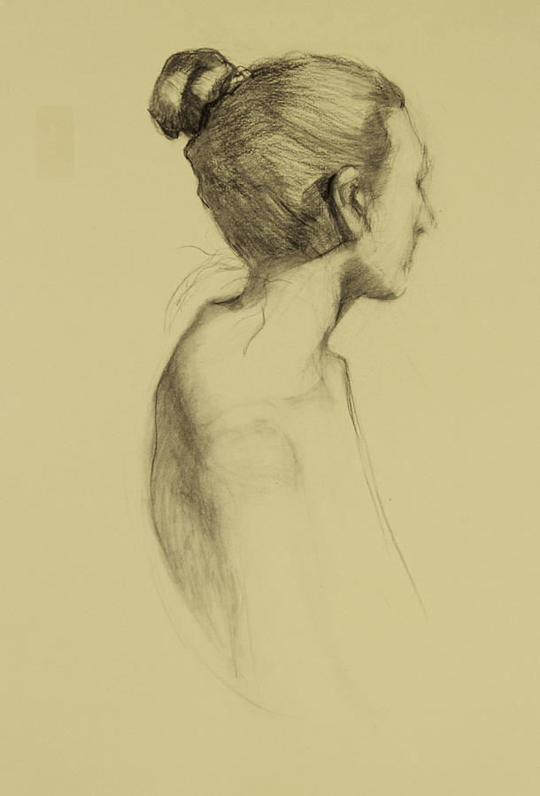 Lady In Profile Drawing by Susan Fowler