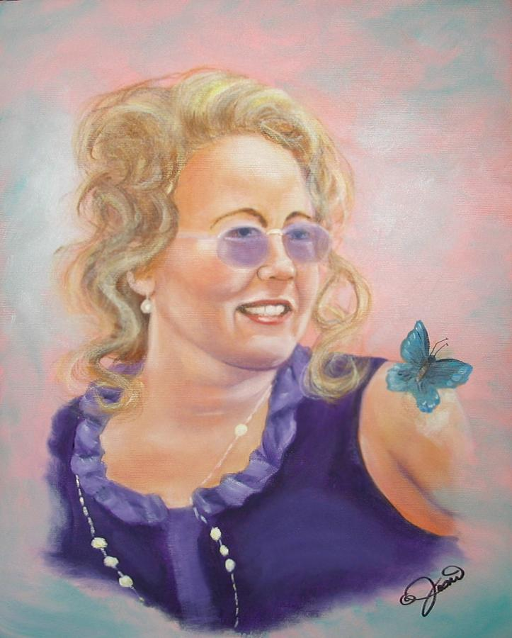 Portrait Painting - Lady In Purple by Joni McPherson