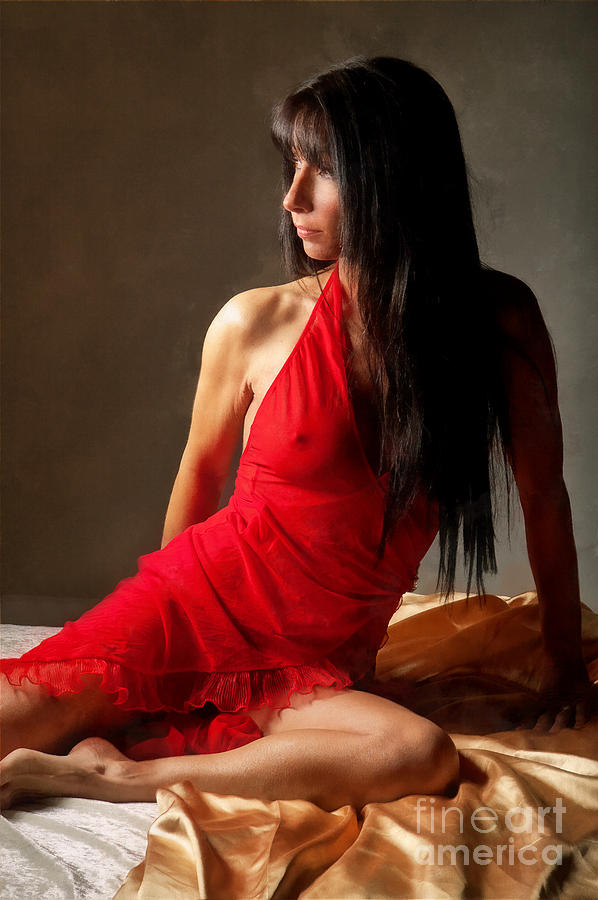 Lady  Photograph - Lady In Red by Naman Imagery
