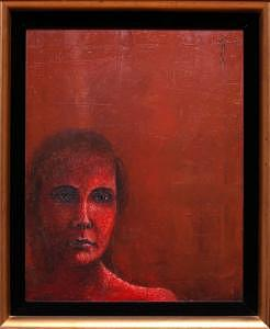 Lady In Red Painting - Lady In Red by Ralph Papa