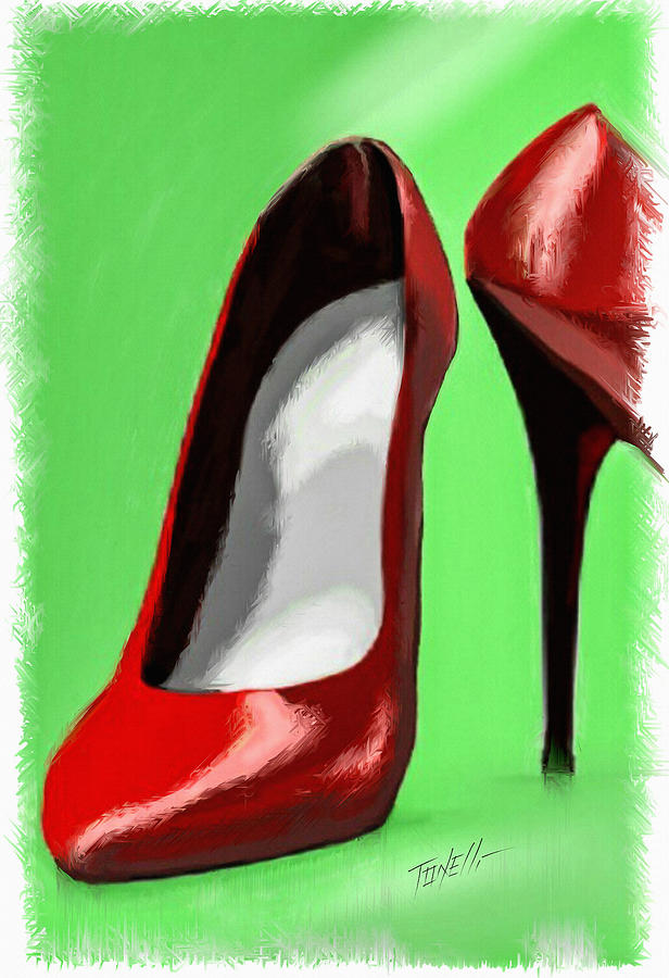 64a2f1714 Lady In Red Shoes Painting by Mark Tonelli