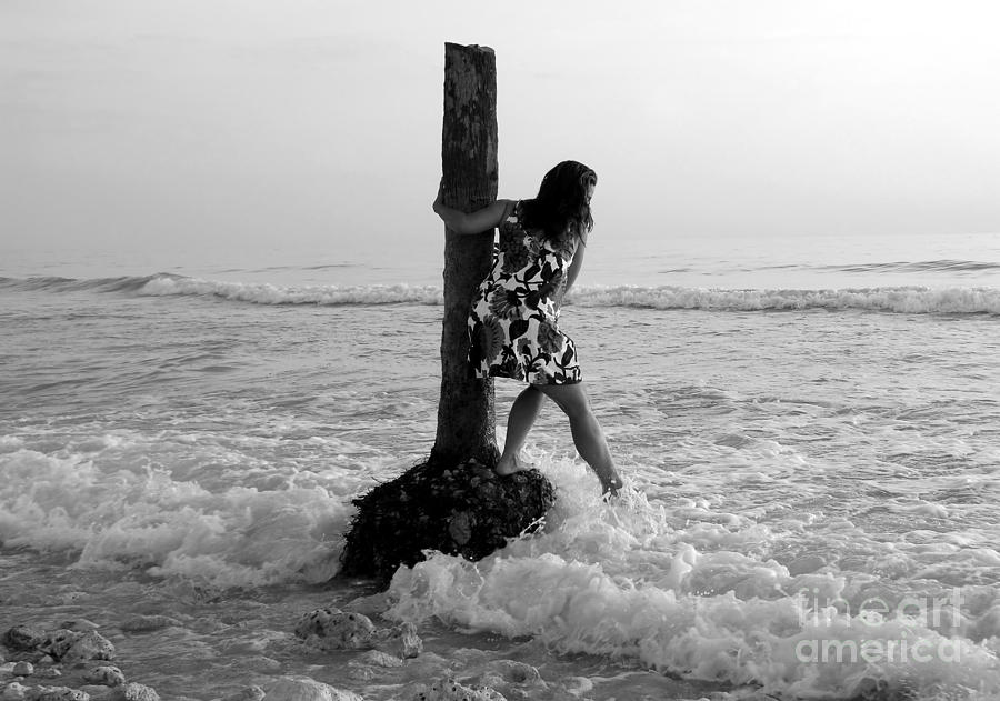 Beach Photograph - Lady In The Surf by David Lee Thompson