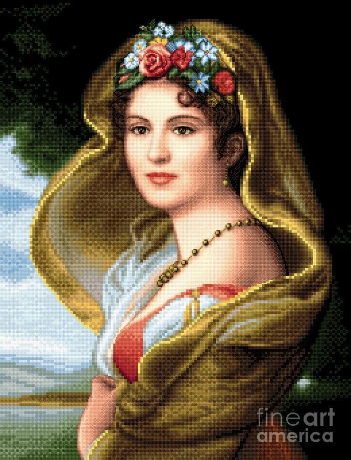 Lady In Veil Tapestry - Textile by Stoyanka Ivanova