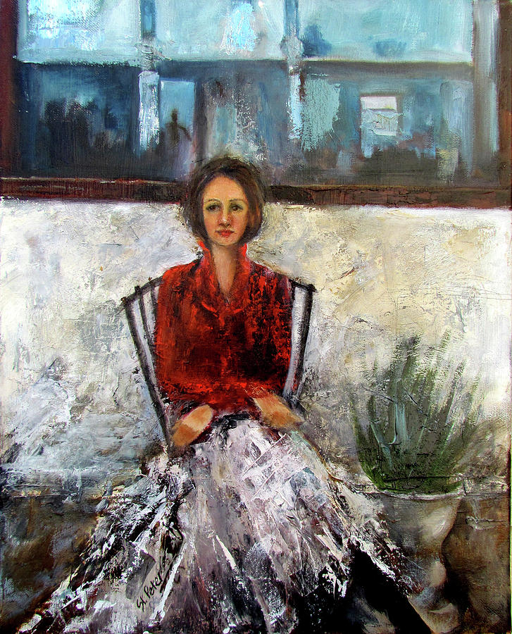 Young Woman Painting - Lady In Waiting by Mary St Peter