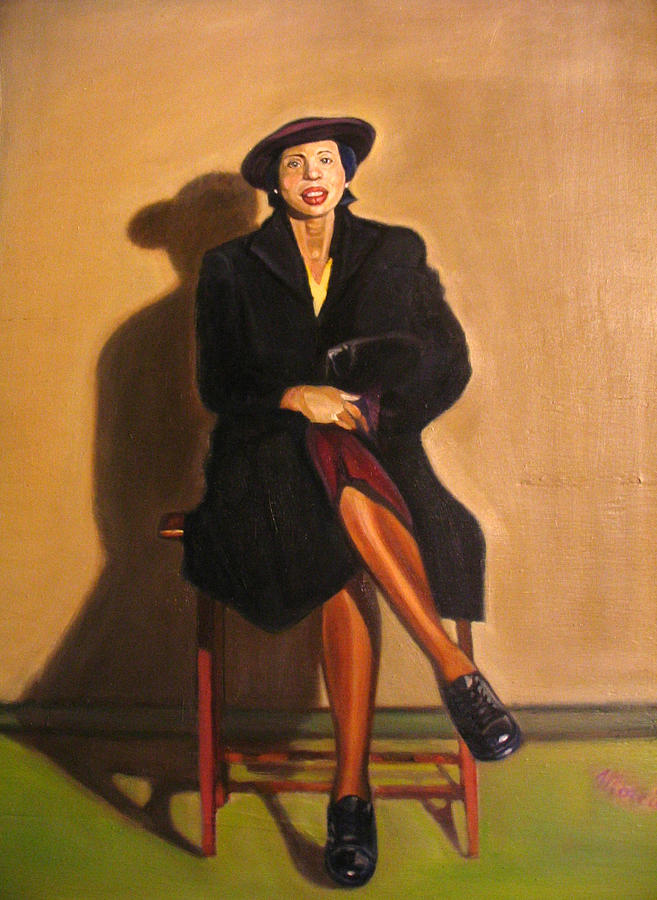 Lady In Waiting Painting by Morris T Howard