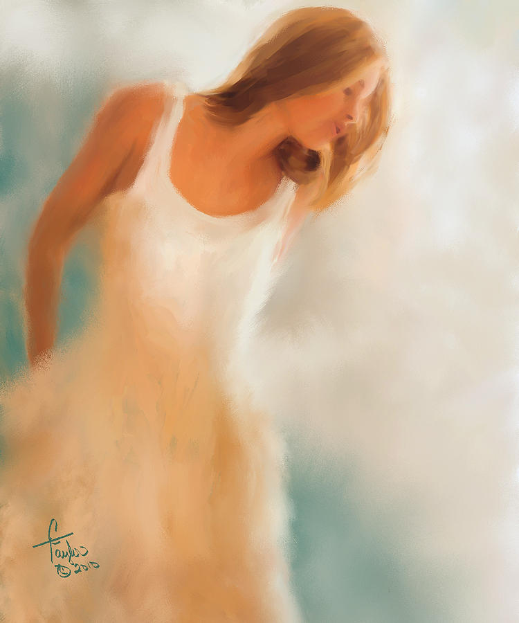 Woman Painting - Lady In White by Colleen Taylor
