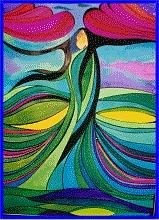 Native American Painting - Lady  by Jamie Winter