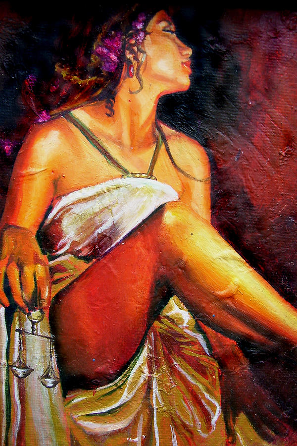 Warm Painting - Lady Justice Mini by Laura Pierre-Louis