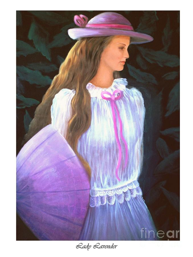 Lady Painting - Lady Lavender by Linda Mungerson