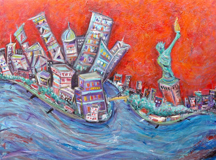 Lady Liberty Painting by Jason Gluskin