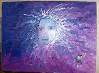 Purple Painting - Lady Lila by Michaela Gilt
