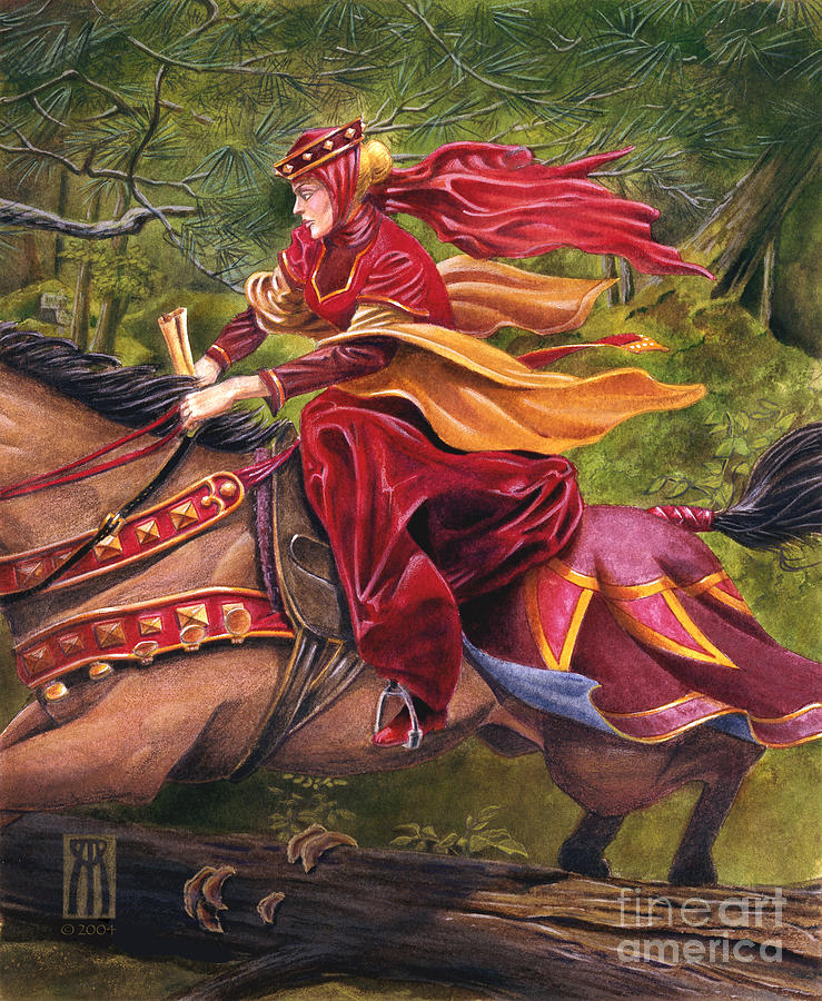 Camelot Painting - Lady Lunete by Melissa A Benson