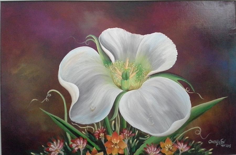 Flora Painting - Lady Moon by Owen Lafon