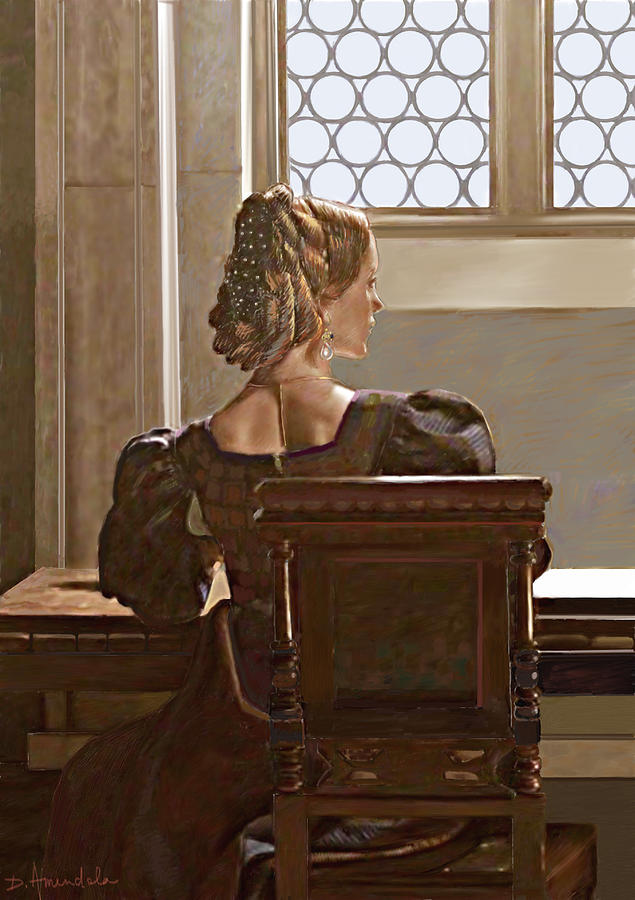 Renaissance Painting Painting - Lady Near The Window by Dominique Amendola