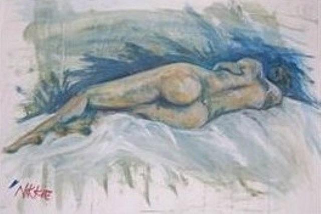 Nude Painting - Lady Nude by Nicola Lees