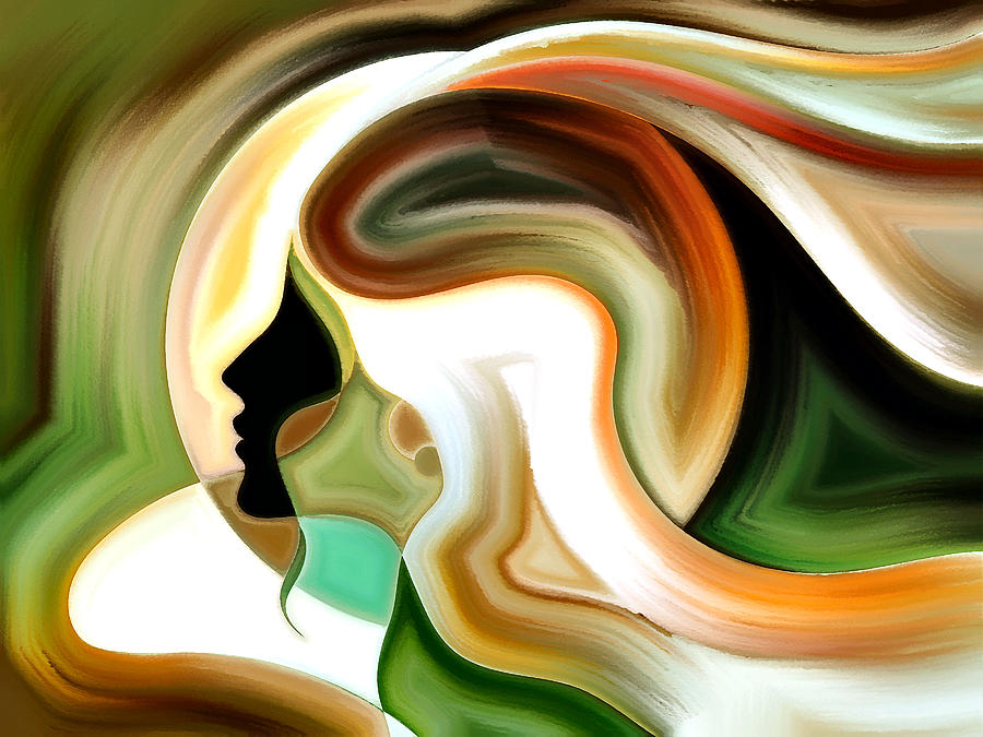 Abstract Paintings Painting - Lady Of Color by Karen Showell