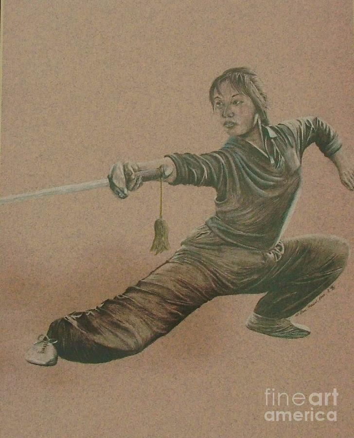 Tai Chi Drawing - Lady Of The Chi by Dan Hausel