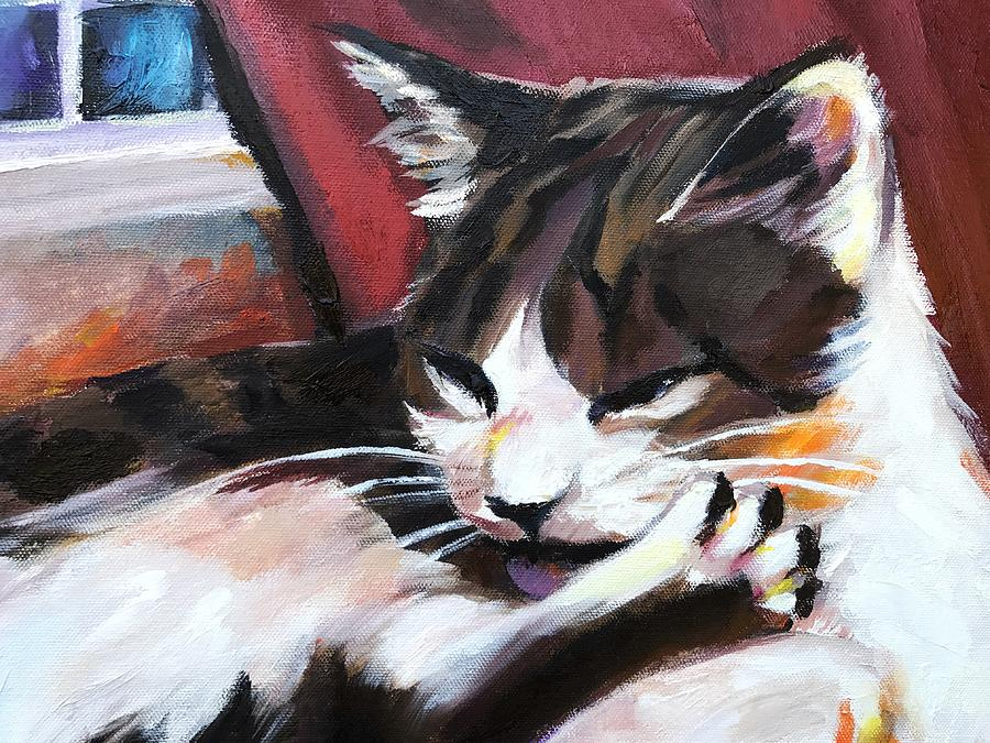 Cats Painting - Lady Of The House Close-up by Ellan Suder