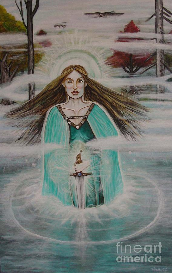 Goddess Painting - Lady Of The Lake II by Tammy Mae Moon
