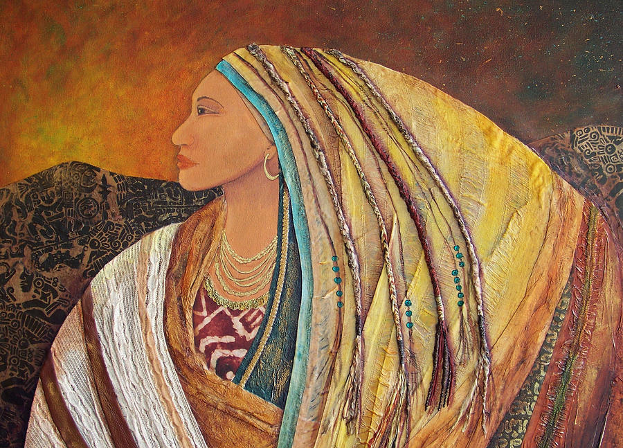 Collage Pastel - Lady Of The Mountains by Candy Mayer