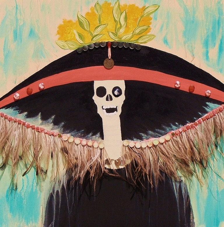 Dia De Los Muertos Painting - Lady Of The Night by Ofelia Uz