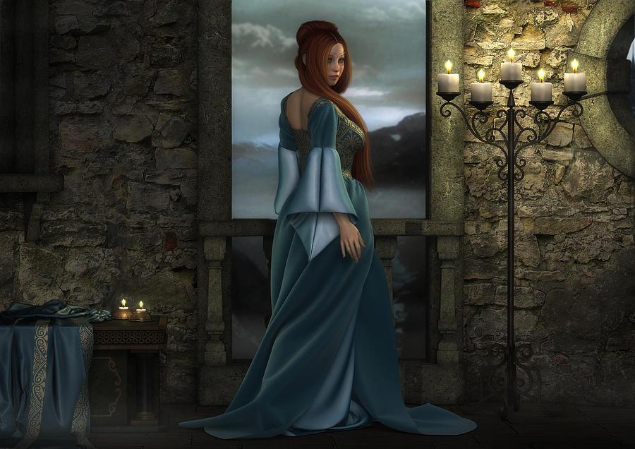 Fantasy Woman Digital Art - Lady Of The North by Rachel Dudley