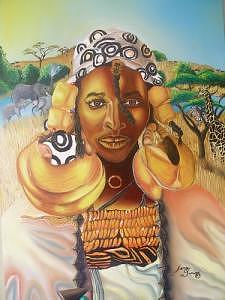 Lady Of West Africa Painting by Portland Art Creations