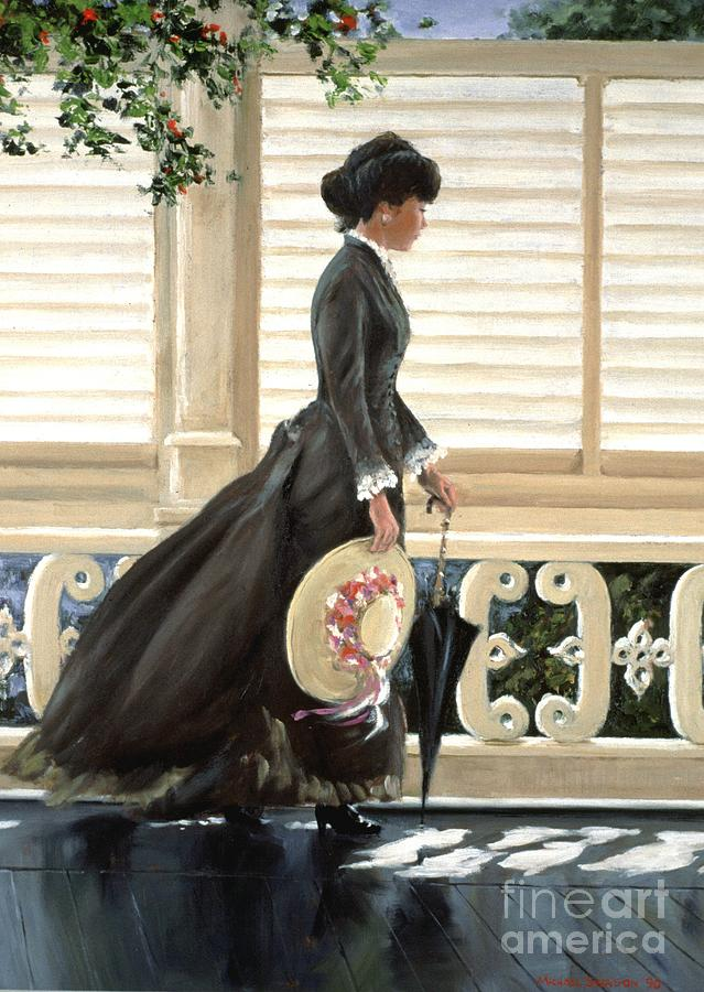 Lady Painting - Lady On A Porch by Michael Swanson
