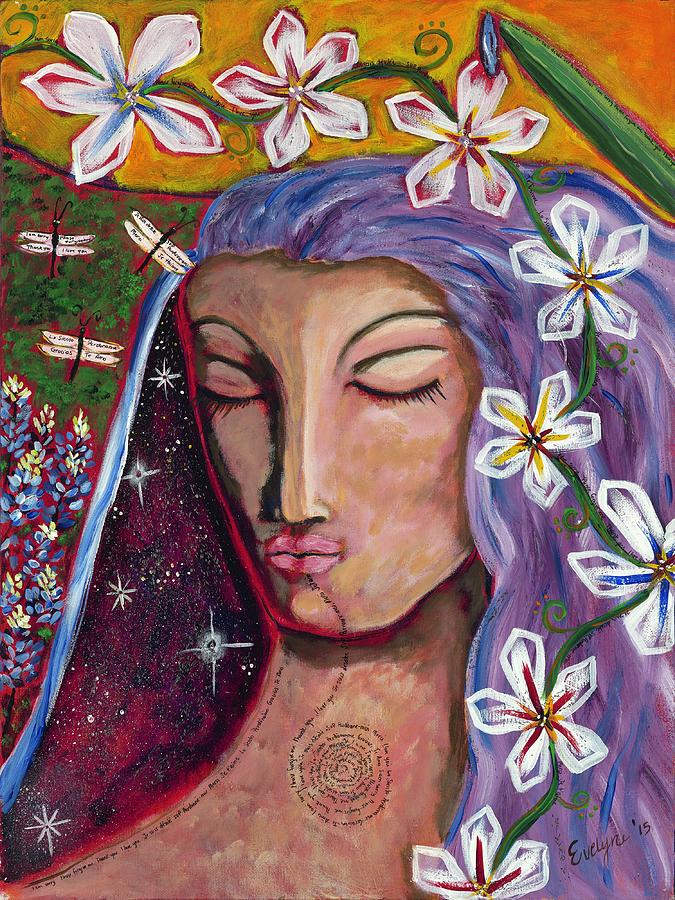 Peace Painting - Lady Peace by Evelyne Verret