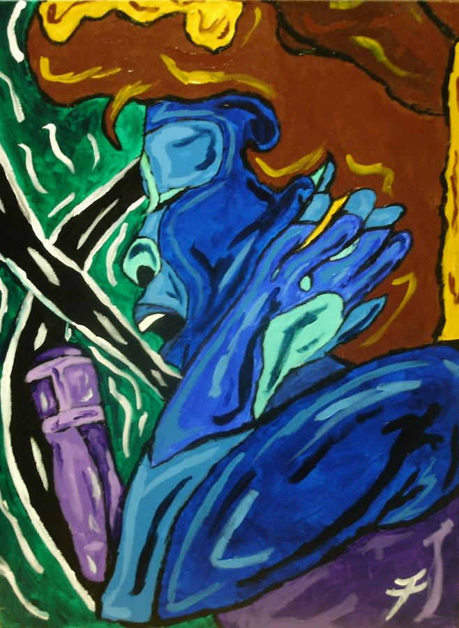 Blues Painting - Lady Sing The Blues by Jason JaFleu Fleurant