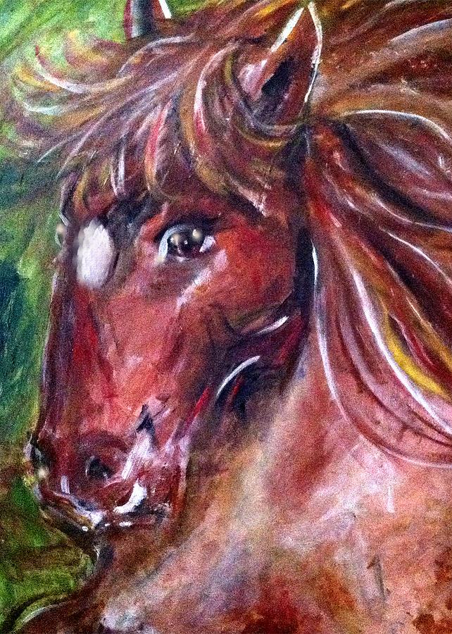Horse Painting - Lady by Thomas Lupari