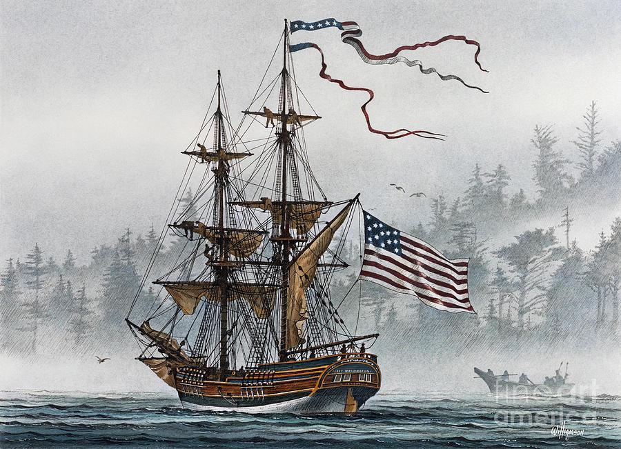 Maritime Print Painting - Lady Washington by James Williamson