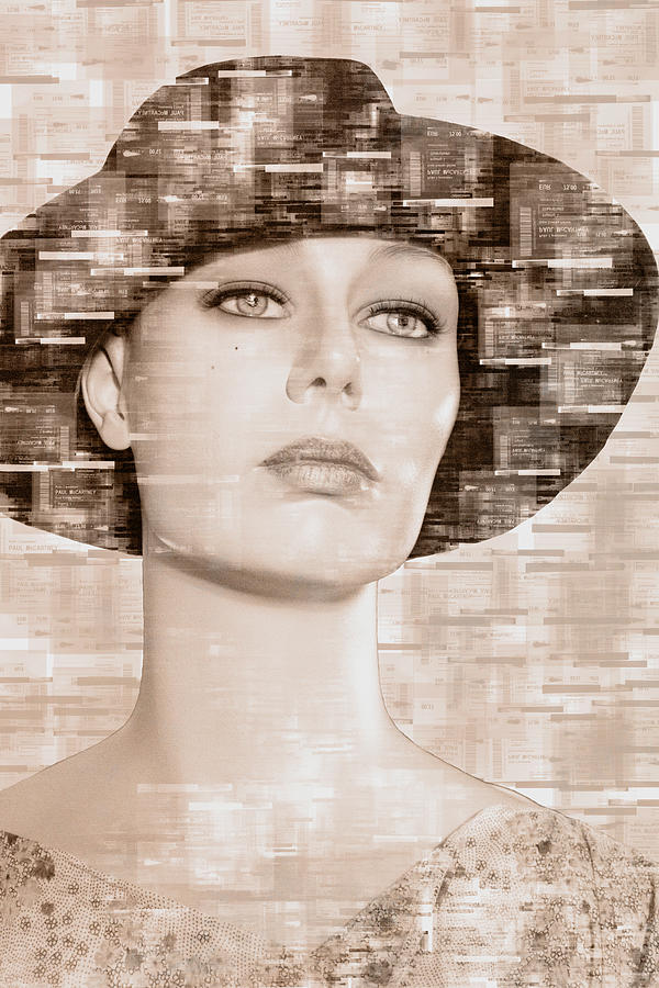 Lady with hat by Adriana Zoon