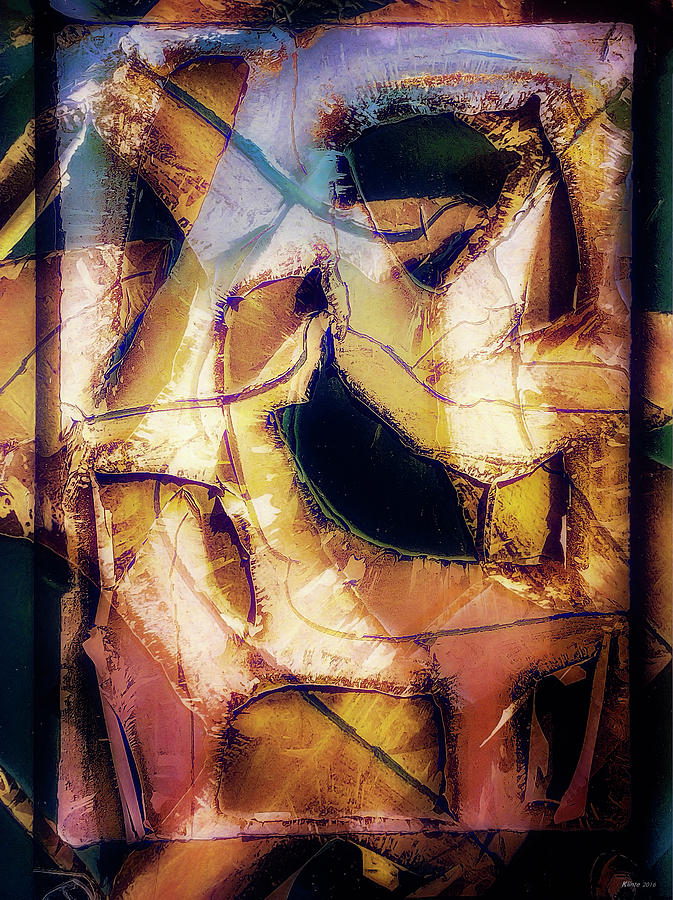 Abstract Digital Art - Lady with Inattentive Disposition by Ole Klintebaek