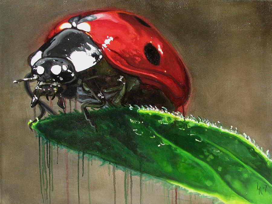 Ladybug Painting - Ladybird by Lucia Rodriguez