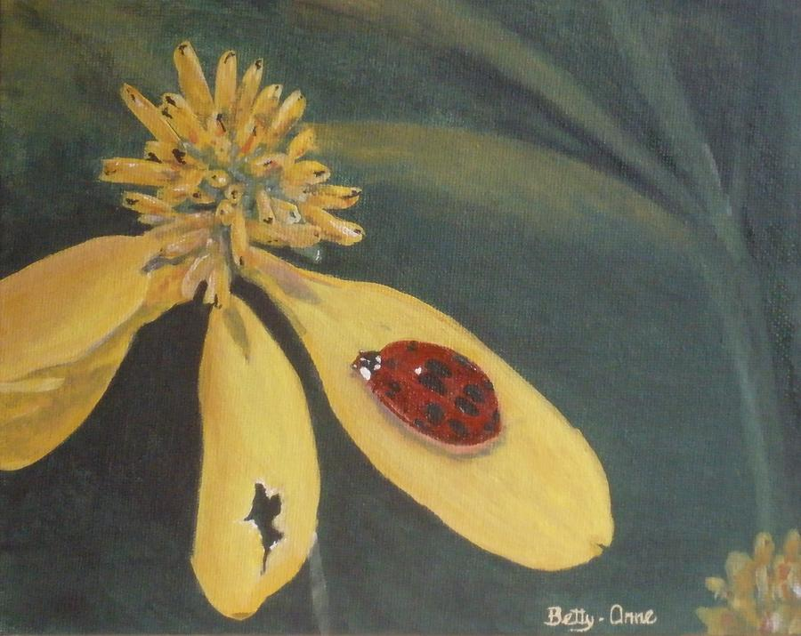 Flowers Painting - Ladybug by Betty-Anne McDonald