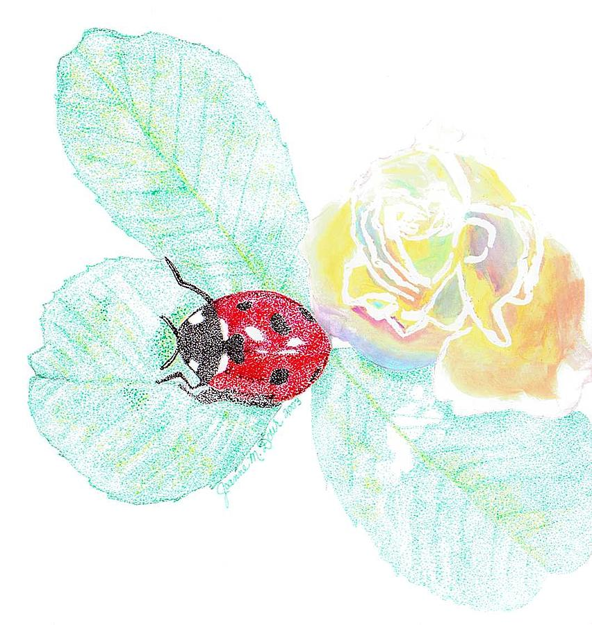 Ladybug Drawing by Joanne Dour