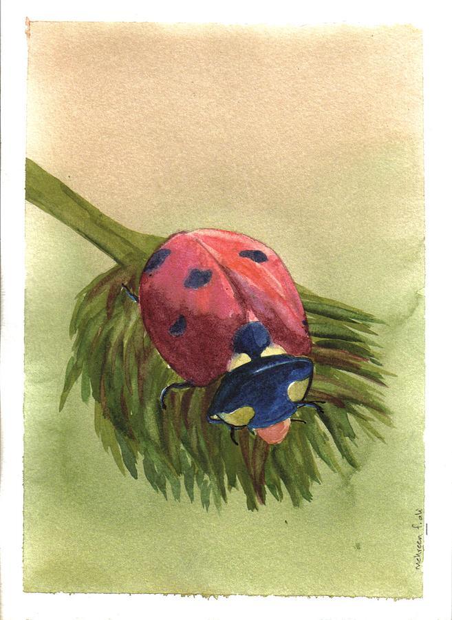 Ladybug Painting by Mehreen Ali