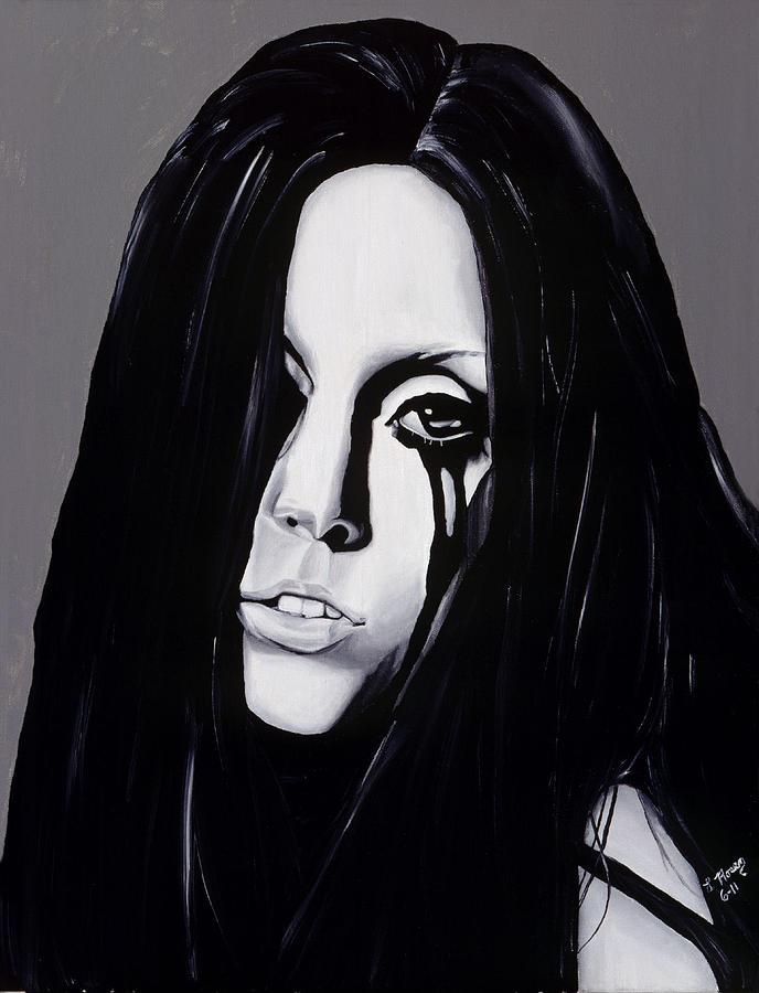 Lady Gaga Painting - Ladygaga by Leeann Stumpf
