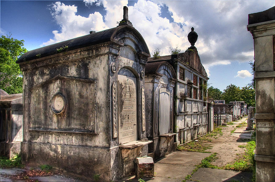 New Orleans Photograph - Lafayette Crypts 3 by Tammy Wetzel