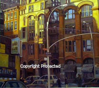 Cityscape Painting - Lafayette Street by Ron Anderson