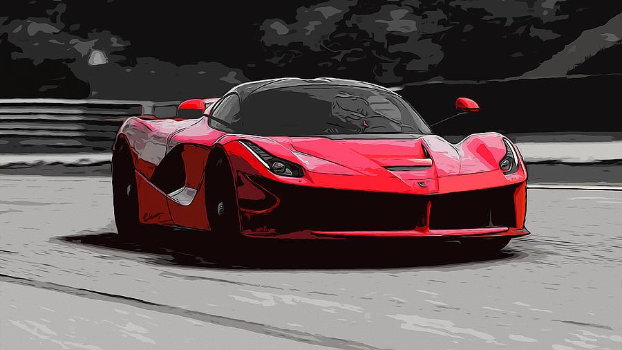 Laferrari Painting - La Ferrari by Andrea Mazzocchetti