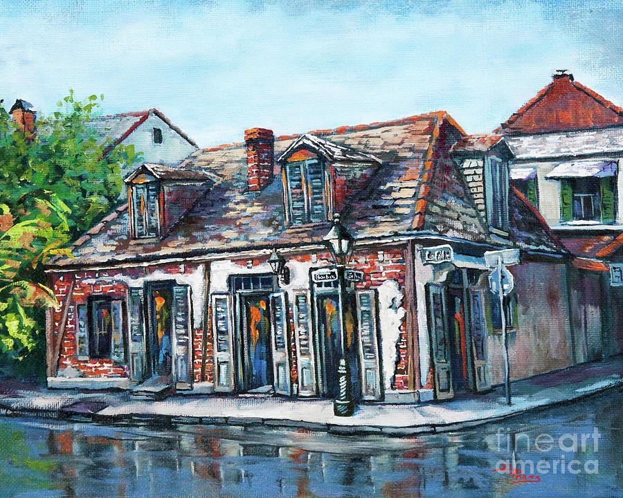 New Orleans Artist Painting - Lafittes Blacksmith Shop by Dianne Parks